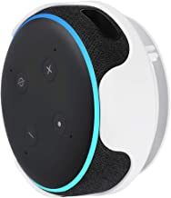 Magnetic Wall Mount Compatible with Echo Dot (3rd Gen) - Convenient mounting for Your Alexa Smart Speaker (White, 1 Pack)