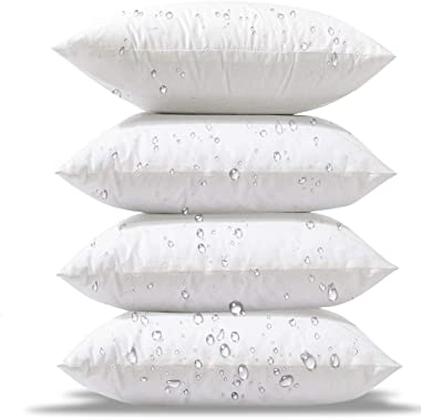 Phantoscope 18 x 18 Outdoor Pillow Inserts - Pack of 4 Outdoor Pillows Water Resistant Throw Pillow Inserts Hypoallergenic Sq