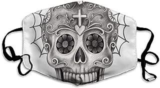 Art Skull Day of The Dead. Mask Mouth Mask Neck Gaiter Mask Bandana Balaclava Easter St. Patrick's Day