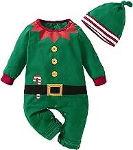 طقم ملابس سالوبيت قطعة واحدة للأطفال الصغار والبنات الكريسماس Romper لباس سانتا كلوز وقزم قزم