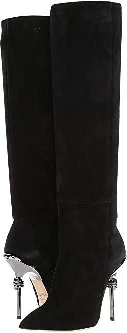 Racine Carrée - Suede 105mm Knee High Boot w/ Metal Heel