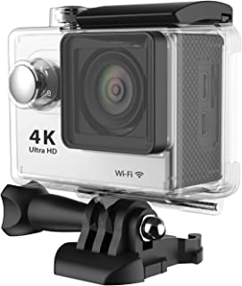 SODIAL H9R WiFi Camera 1080P Ultra 4K Sport Action Waterproof Travel Camcorder Silvery