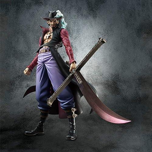 mejor calidad mejor precio Dracule Mihawk, Anime One Piece Model, Estatua de colección de de de Juguetes for Niños, Decoración de Escritorio Toy Statue Modelo de Juguete PVC (24 cm) FKMYS  venta