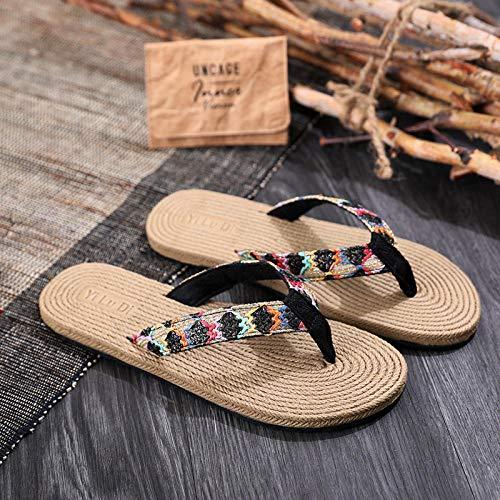LLGG Masajes Playa Chanclas Sandalias,Tablet Edememe, Playa Plana-Negro_38,Zapatillas de casa de Fondo Suave