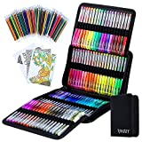 Glitter Gel Pens, Glitter Pen with Case for Adults Coloring Books, 160 Pack...