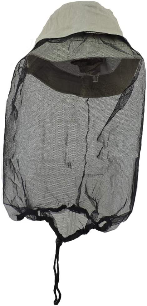 Khaki Boonie Tulsa Mall Outdoors Hat with Manufacturer regenerated product L XL Netting Mosquito