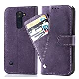 Asuwish LG Phoenix 2/K8 2016/Escape 3/K350N Wallet Case,Luxury Leather Phone Cases with Credit Card Holder Slot Stand Kickstand Book Rugged Flip Folio Protective Cover Women Men Girls Purple