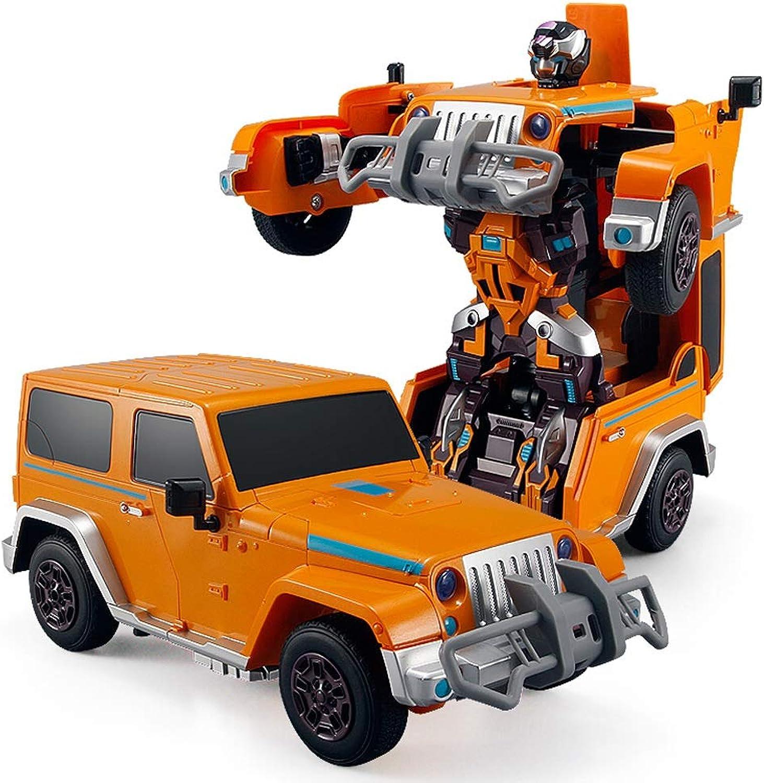 ventas calientes Pinjeer One Button Transformers Transformers Transformers Control Remoto del Coche Cool Inteligente Coche eléctrico Robot Boy Juguetes Modelo de Coche Regalos de cumpleaños para Niños 8+  hasta un 50% de descuento