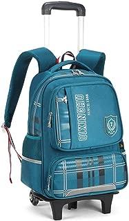 GLJJQMY Travel Bag Backpack Student Trolley Bag Backpack Men and Women Travel Bag Detachable Children's Bag Trolley Backpack (Color : Green, Size : 41x15x31cm)