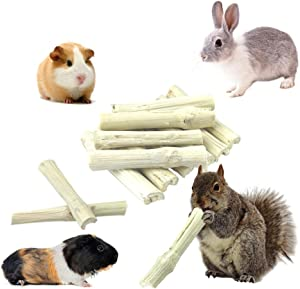 Sharllen 100g & 300g & 500g Natural Sweet Bamboo Animals Molar Chew Sticks Toys Bamboo Sticks Treats for Rabbits Chinchilla Guinea Pigs Hamster Squirrels and More Pets,Clean Teeth and Healthy Snacks