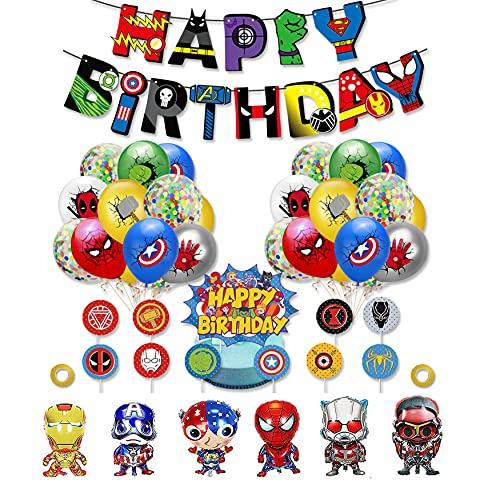 rosepartyh Decorazioni Compleanno Festa Supereroe Palloncini di Alluminio Avengers Palloncini Supereroi...