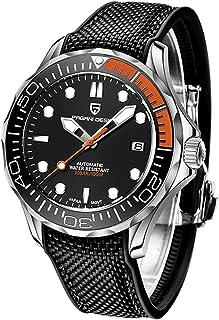 Pagani Design Original Montre Homme 007 Seamaster Bracelet en Acier Inoxydable avec Couronne vissée et étanche jusqu'à 100...
