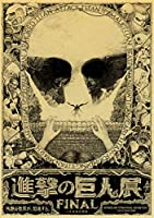 ナンバーキットによる5Dダイヤモンド絵画、タイタンシーズン4ポスターへの攻撃家の壁の装飾のためのクリスタルラインストーン刺繡アートクラフトギフト(正方形、30×40cm)