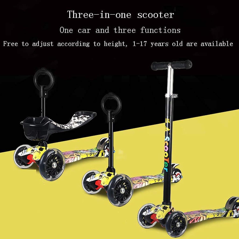 Kinder-Roller DREI in Einem faltbaren Kinderwagen Rutsche DREI-Rad-Jo-Jo-Roller