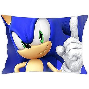 Sonic the Hedgehog Throw Pillow Case Bed Sofa Cushion Cover Decor Girl Boys Gift