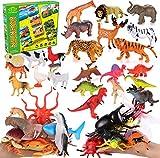 Toyssa 40 Piezas Animales Juguetes Figuras Animales Figuras Dinosaurios Animales Salvajes Marinos Granja Insecto Juguetes Educativos para Niños Niña