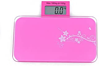 Báscula de grasa corporal para el hogar, báscula electrónica de 180 kg, báscula portátil de peso de precisión, sensores de pesaje de baño, báscula de color rosa