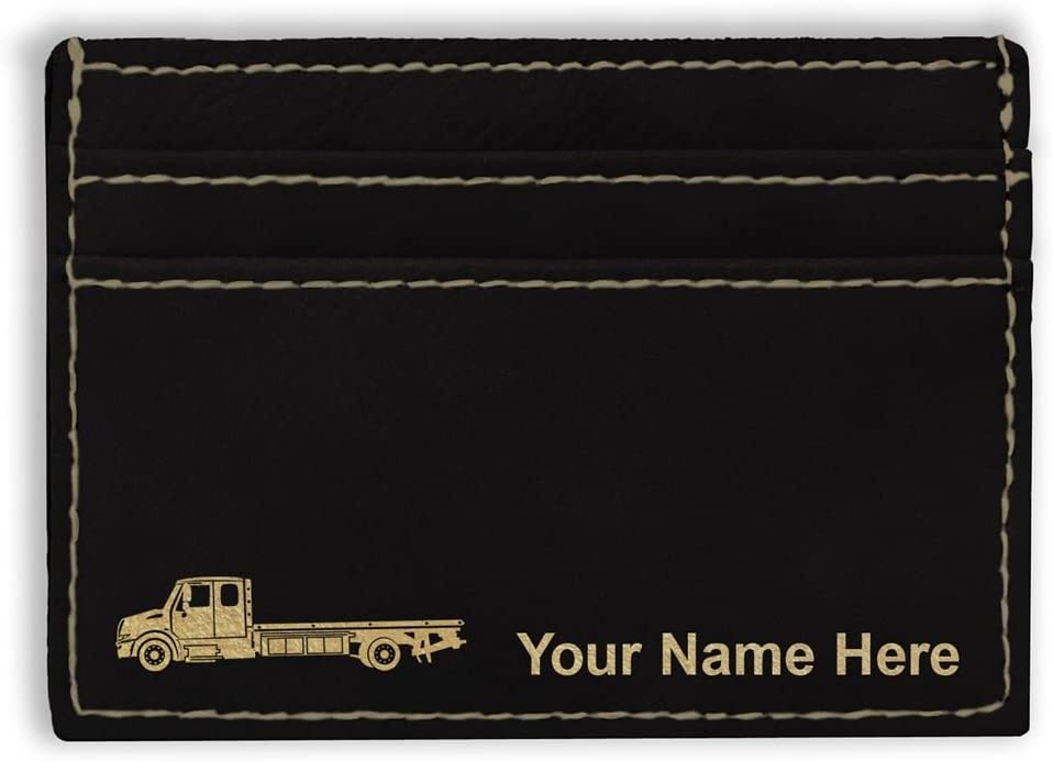Money Clip Wallet Flat Max 69% OFF Bed Tow Truck In Personalized Engraving Max 59% OFF