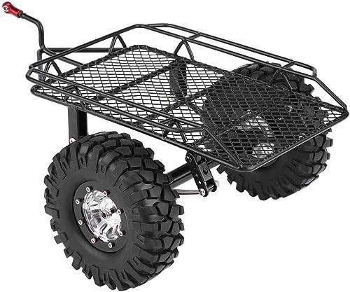 YCGJ Pièces de remorque RC Voiture remorque Parcravate DIY pour 1 10 D90 TRX-4 Camion métal en Plastique Voiture RC