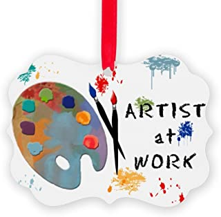 CafePress Artist at Work Christmas Ornament, Decorative Tree Ornament