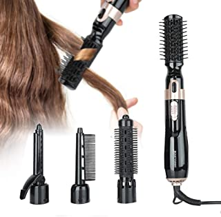 Secador de pelo multifuncional 4 en 1 Cepillo de aire caliente, Cepillo rizador de pelo, Secador de pelo eléctrico Peine Plancha para rizar Secador de pelo Peine Secador de pelo Styler Peine
