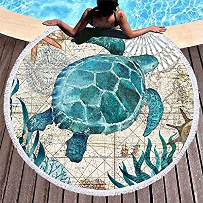 Fineday Beach Towel, Large Round Beach Cloth Outdoor Picnic Blanket Polyester Printed Sand Beach Pad, Home Textiles HotSales