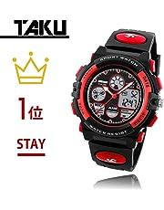 TAKU STORE 腕時計 子供用 キッズ 防水 多機能 アナログ デジタル表示 日本語説明書付き