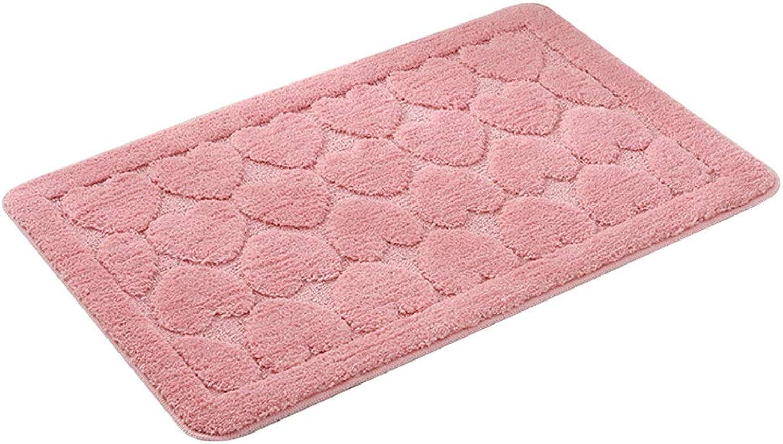 DDSS Door mat Floor mat - Polyester TPR, Three-Dimensional Suede, Soft Skin-Friendly, Solid color Rectangular Home Kitchen Bedroom Porch Bathroom Anti-Slip Door mat mat - 2 colors 2