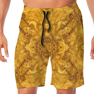 TR2YU7YT Psychedelic Trippy Picture Casual Mens Swim Trunks Quick Dry Printed Beach Shorts Summer Boardshorts Bathing Suits with Drawstring