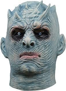 Night's King Mask White Walker Halloween Costume Party Creepy Latex Head Mask for Men