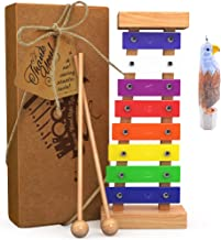 aGreatLife Wooden Xylophone for Kids Includes Eagle Whistle