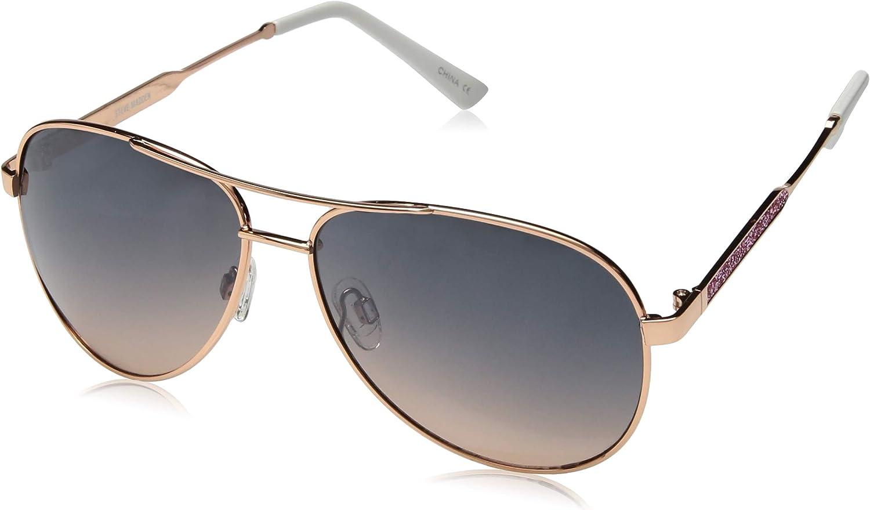 Steve Madden Women's Sm492136 Aviator Sunglasses pink gold 60 mm