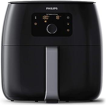 Philips HD9860/90 Airfryer XXL Smart Sensing - Freidora de aire caliente (2225 W, para 4-5 personas, 1400 g, pantalla digital), color negro y oro rosa: Amazon.es: Hogar