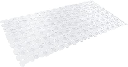 DII Anti-Slip Non Skid Allergen-Free Mildew Resistent Pebble Vinyl Shower, Bathtub Mat 15x27.5 with Safety Grip Suction Cu...