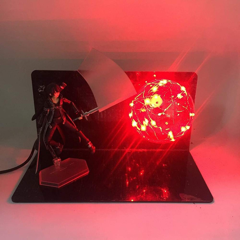 Anime Schwert Gott Domain Tongren Yasina kann kreative Tischlampe LED leuchtende Spielzeug, 1 , Nacht Lichtstecker im Nachtlicht zu tun