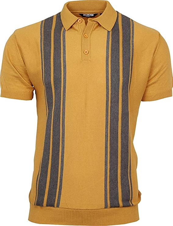 Mens Vintage Shirts – Casual, Dress, T-shirts, Polos Relco Mens Striped Fine Gauge Knit Mod Polo Shirt £34.99 AT vintagedancer.com