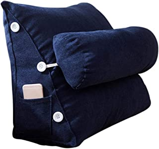 happygirr Cojín Triangular para sofá o Cama o como Respaldo para despacho, tamaño Grande, Lavable, Protege el Cuello, multifunción, 452550cm, Triangle en 7 Colores