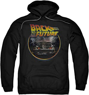 Back to The Future Movie Back Delorean Vintage Style Adult Sweatshirt Hoodie