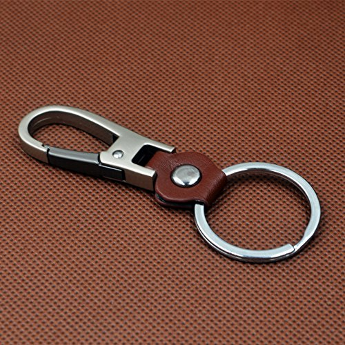 Jzcky Shzrp Leather Valet Key Chain for Men and Women,Smart Gift Idea (Chrome)