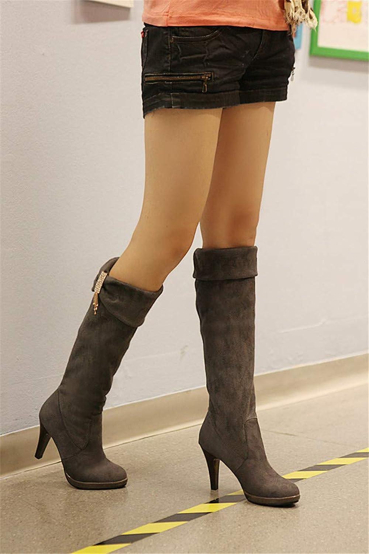 HOESCZS Damenschuhe Damen Stiefel Strass Stretch SAMT Hohe Stiefel Damen Stiefel Stiefel Stiefel Hohe Stiefel Damen Stiefel Damenschuhe Winter