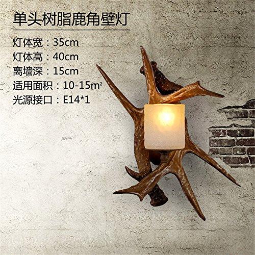YU-K eenvoudige vintage woonkamer eetkamer bedlampje lamp slaapkamer tweepersoonsbed gewei wandlamp, 35 * 40 cm 15 cm van de wandlamp