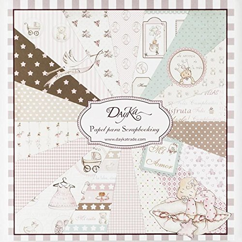 Dayka Trade Kit de Scrapbooking Niña 20x20cm