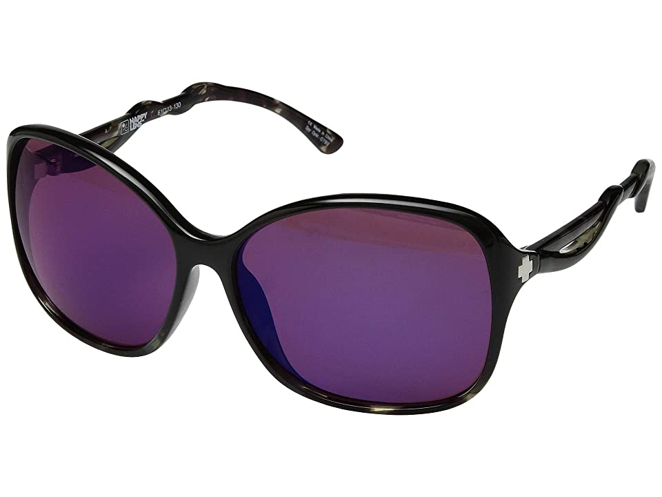 Spy Optic Fiona (Black/Smoke Tort/Happy Rose/Midnight Spectra Mirror) Fashion Sunglasses