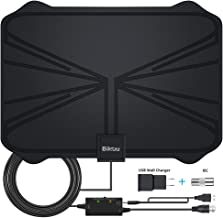 2019 Latest 130+ Miles Digital Amplified HD TV Antenna - Indoor TV Antenna 4K HD Freeview Life Local Channels All Type Television Local Channels w/Detachable Signal Amplifier and 16.5ft Longer Coax Ca