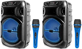 $120 » Sponsored Ad - Technical Pro 8 Inch Portable 1000 W Bluetooth Speaker w/Woofer & Tweeter and Professional Portable Microph...