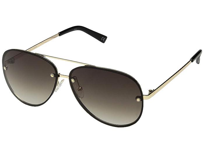 Le Specs Hyperspace (Gold/Black/Khaki Grad) Fashion Sunglasses