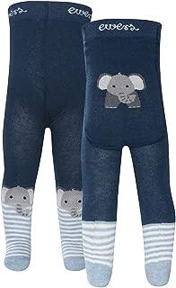 EWERS Strumpfhose TEDDY Bär mit Pomotiv Bouclegarn dunkelblau rosa grau