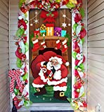 Joiedomi Christmas Santa with Gifts Window Door...