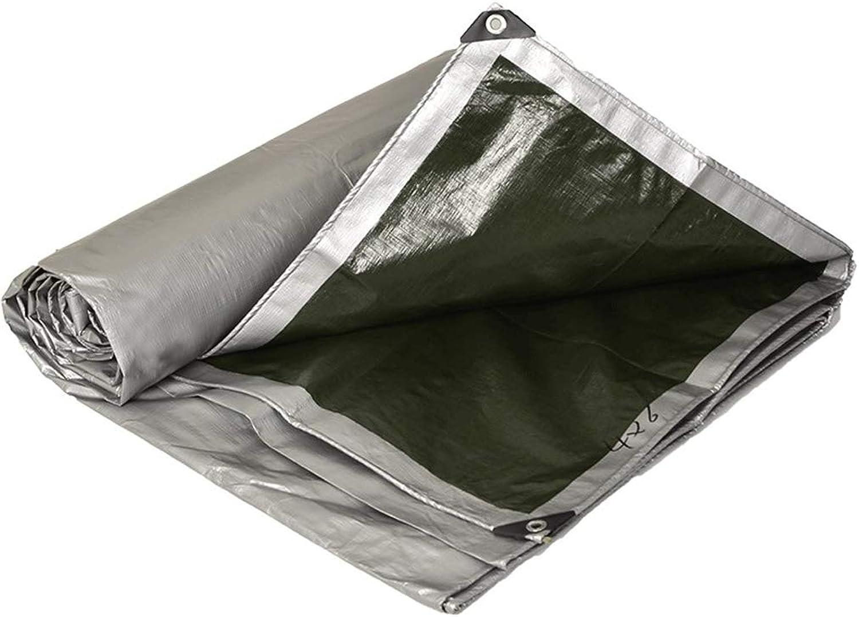 Thicken Army Green Silver Waterproof Rain Cloth Sunscreen Awning Cloth Outdoor Sunshade Tarpaulin Tarpaulin Car Truck Tarpaulin (color   Silver, Size   2  3)