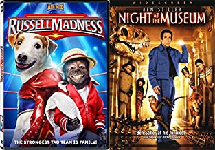 Night at the Museum + Russell Madness DVD Family Animal T-Rex Fun Movies DVD Kids animated